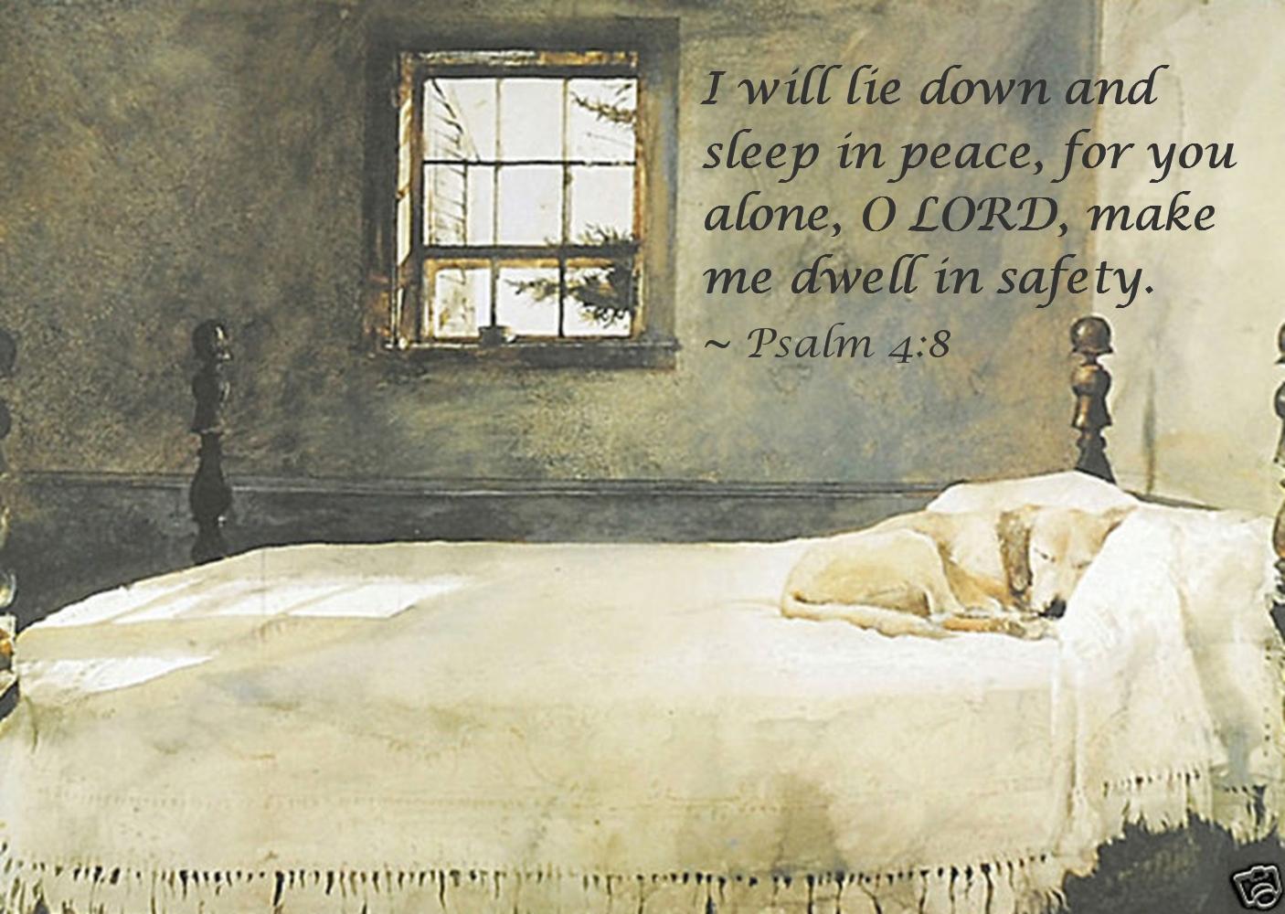Sophie And Dakota S World Psalm 4 8