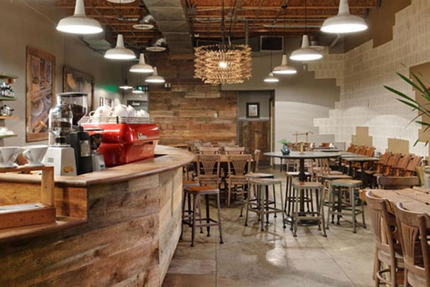 Cozy Coffee Shop and Tea Store Design Ideas with Unfinished Furniture