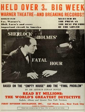 saturday matinee: sherlock holmes and the sleeping cardinal (1931