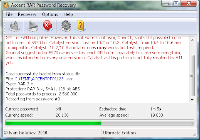 Accent RAR Password Recovery v1.0.17.955 Ultimate Edition Incl Crack