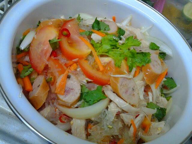 resepi kerabu ayam thailand