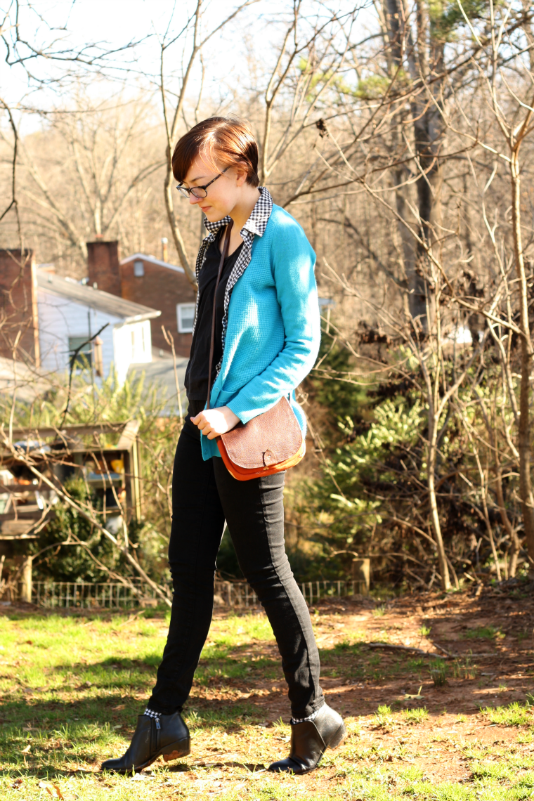 turquoise cashmere sweater personal style