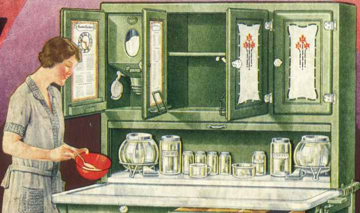 Hoosier cabinet hardware - Wilson, pulls, knobs, flour bins, sugar