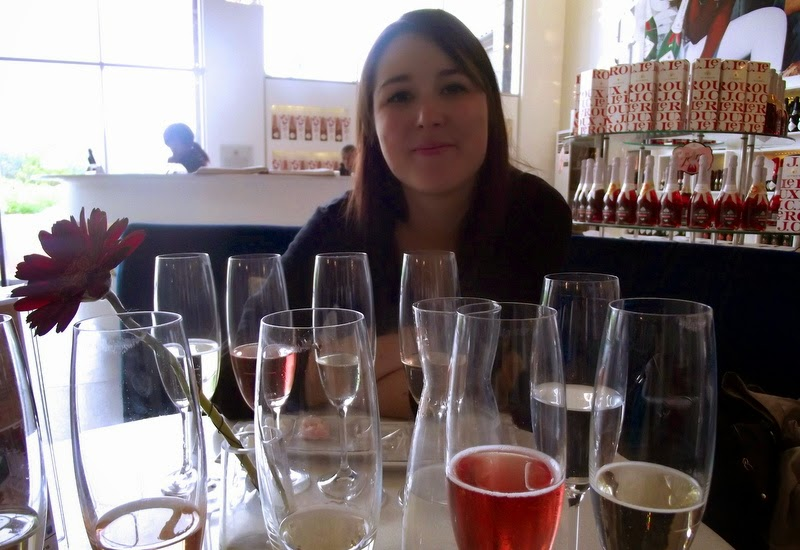 Camila with bubbly - Western Cape, South Africa