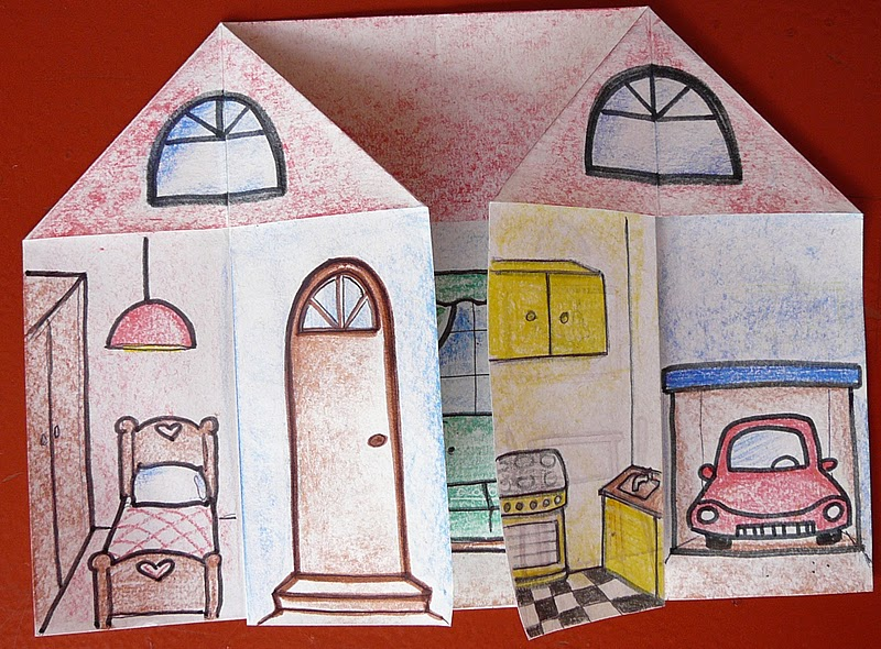 How to draw the inside of a house tell the students to draw the