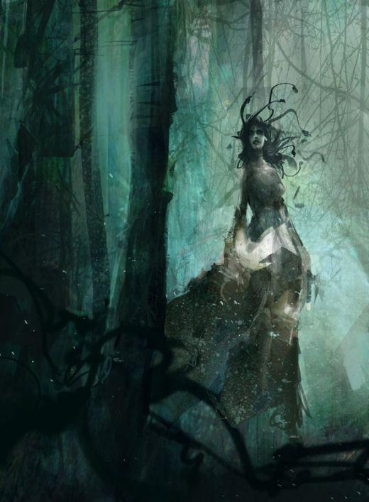 Richard Anderson flaptraps arte conceitual ilustrações pinturas games fantasia ficção científica Medusa