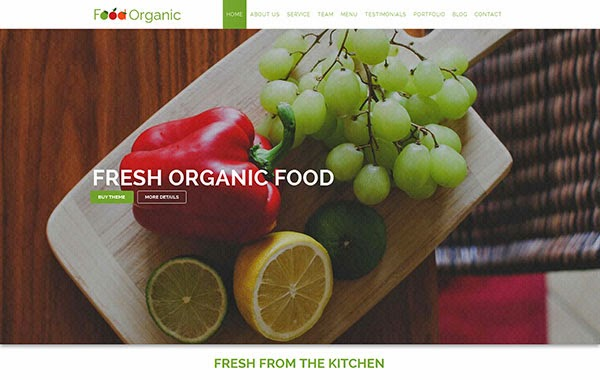 Food Organic – HTML Template For Healthy Food