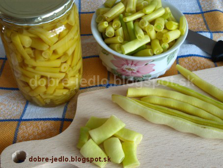 Nakladané fazuľové struky - recepty