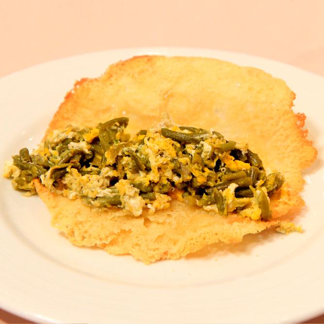 receta, recetaclip, cocina, vídeo, blog, revuelto, ajetes, crujiente, queso, torta,