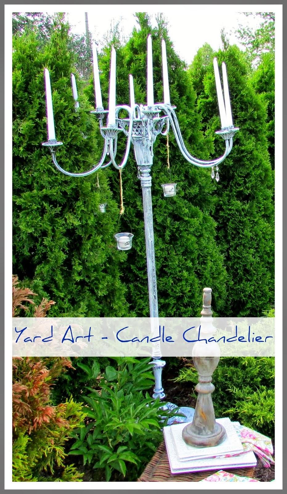 Yard Art - Candle Chandelier