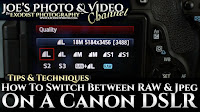 How To Switch Between RAW & Jpeg On A Canon DSLR | Photography Tips & Techniques