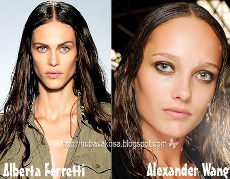 Дълга Коса Тенденции Пролет/Лято 2012 Прически с мокра коса