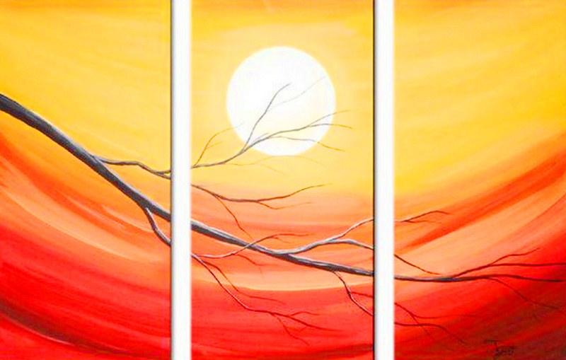 Cuadros pinturas oleos cuadros tr pticos modernos - Cuadros modernos para pintar ...