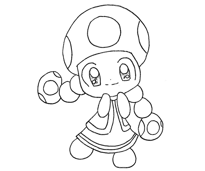 Toad And Toadette Coloring Pages Coloring Pages