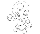 #6 Toadette Coloring Page