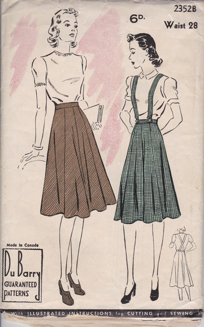 Du Barry skirt 2352B, 1940s gored skirt