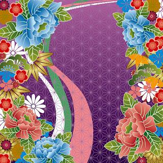 和装柄の背景 japanese wind pattern background イラスト素材4