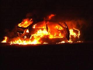 Μεσσηνία: Έκαψαν κλεμμένο αυτοκίνητο που προκάλεσε τροχαίο!