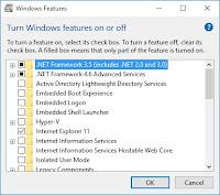 Mengaktifkan NetFramework 3.5 di Windows 10