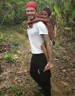 Liburan Ala David Beckham Blusukan di Hutan Amozon