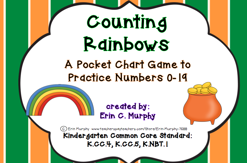 http://www.teacherspayteachers.com/Product/Counting-Rainbows-A-Pocket-Chart-Game-to-Practice-Identifying-the-Numbers-0-19-1153233