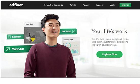 website yang sedang naik daun, adfiver.com