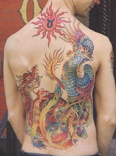 Fotos de tatuagens de dragão chinês nas costas