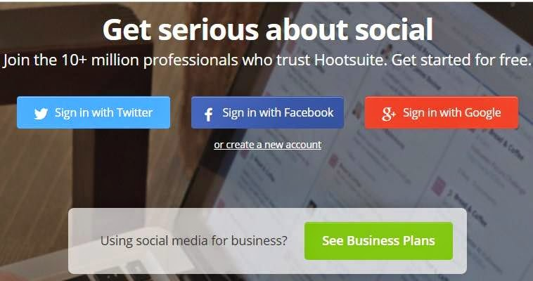 HootSuite in blogger
