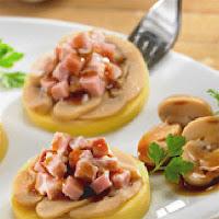 Receta de botana de queso con champiñones