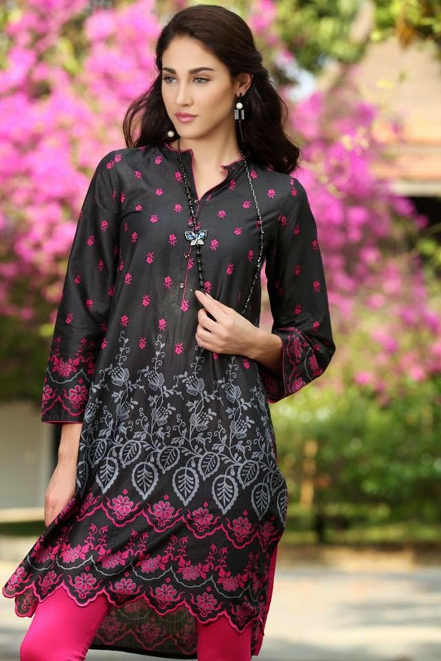 Black, Kurta, Fashion 2015, Stylish, Latest.