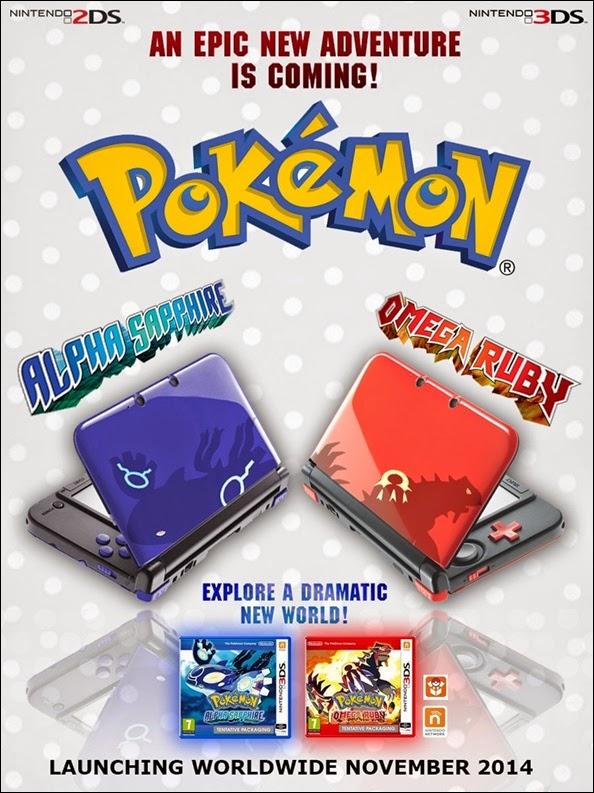 Nintendo 3DS XL, Pokémon Rubis Oméga, Pokémon Saphir Alpha, Nintendo, Actu Jeux Video, Jeux Vidéo,