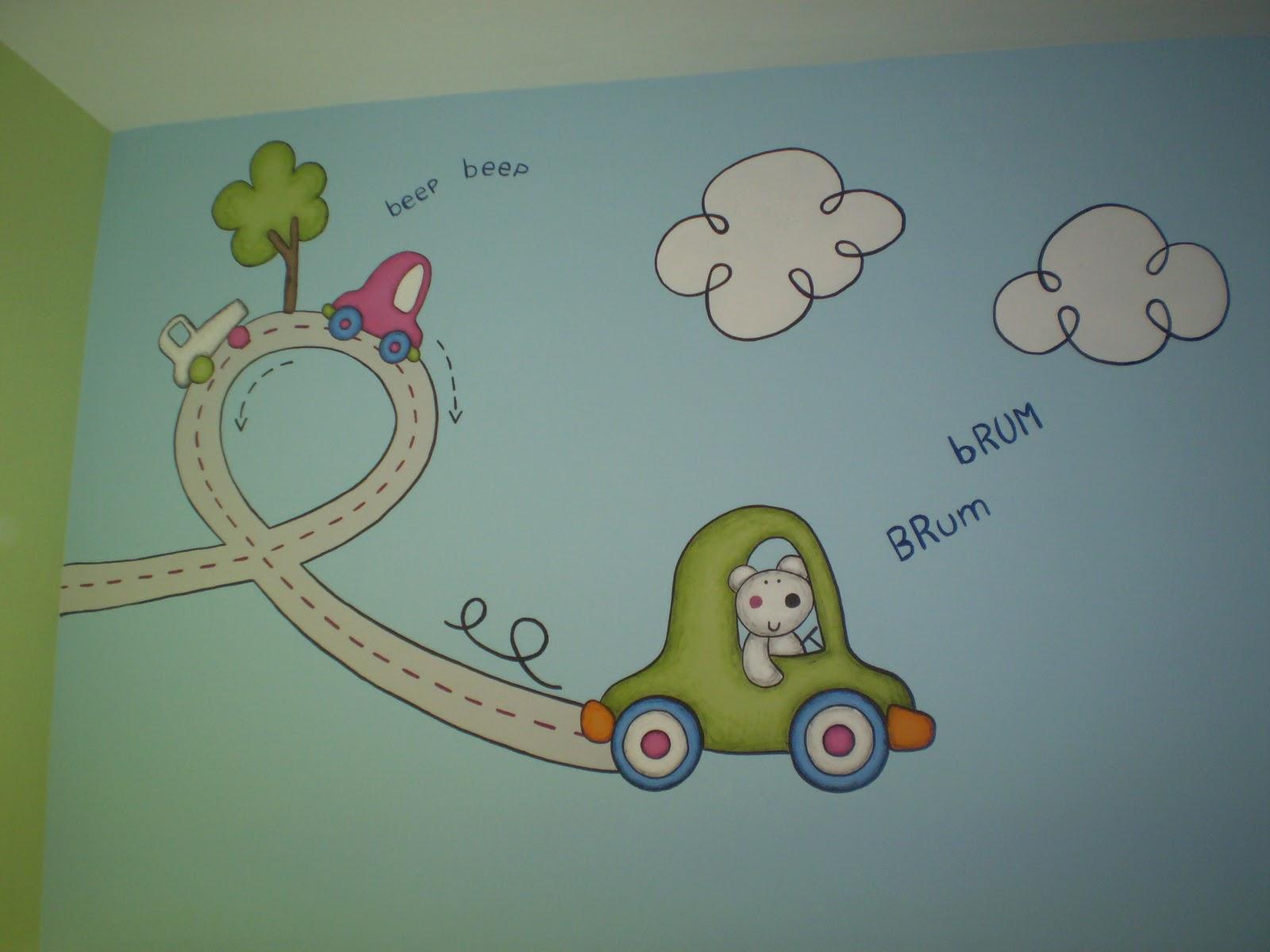 Murales infantiles pintados a mano 16 decoraci n para for Murales para decoracion