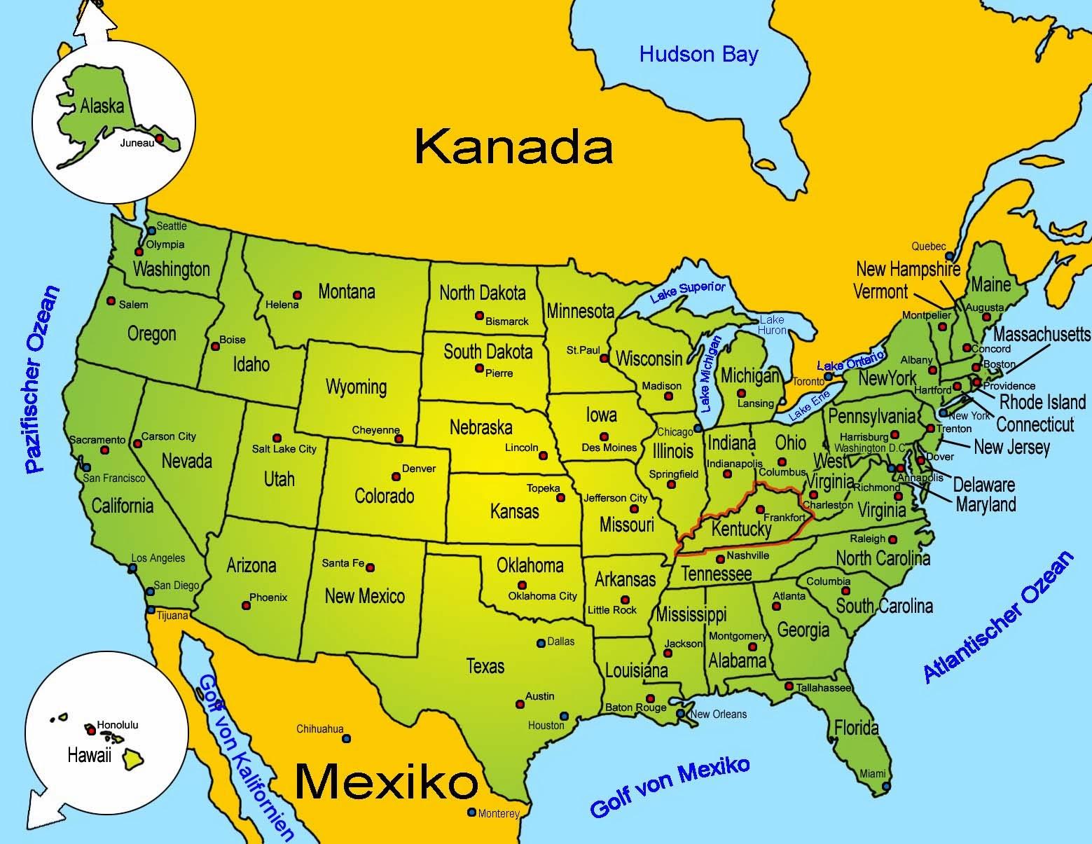 Frankfort (KY) United States  City pictures : Kentucky ist zudem bekannt für die gute Bildung und Forschung in der ...