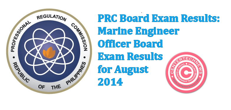 Marine Engineer Officer Board Exam Results for August 2014