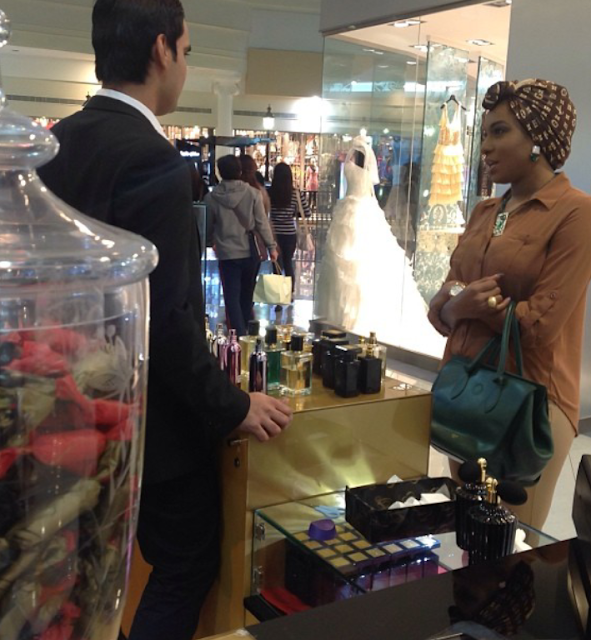 chika ike shopping in dubai