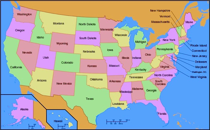 Geography Blog US Maps With States - A usa map