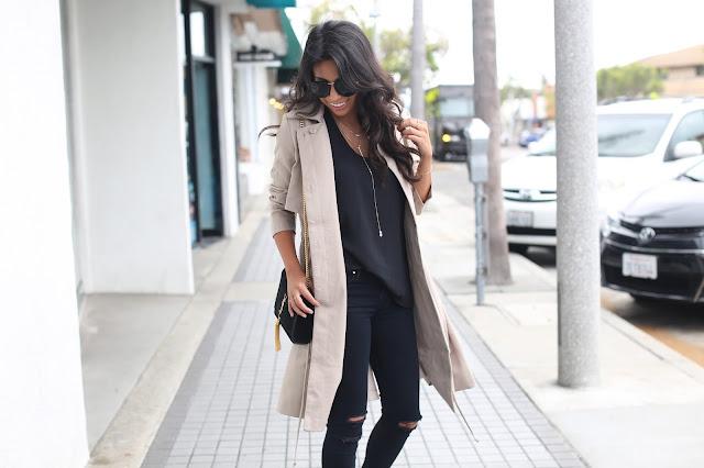 all black outfit, ysl bag, fall fashion