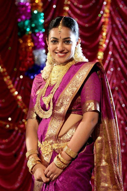 Actress Nitya Menon Saree Photos