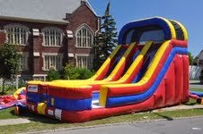 Inflatable 18ft Bouncy Double Bay Dry Slide Moonwalk Includes Free Blower Free Shipping and Accessories