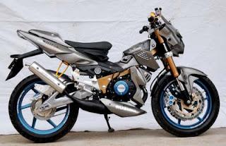 Gambar modifikasi motor Satria