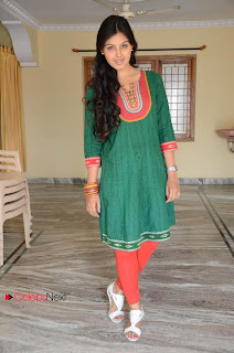 Monal Gajjar Latest Picture Gallery in Green Salwar Kameez  0038.jpg