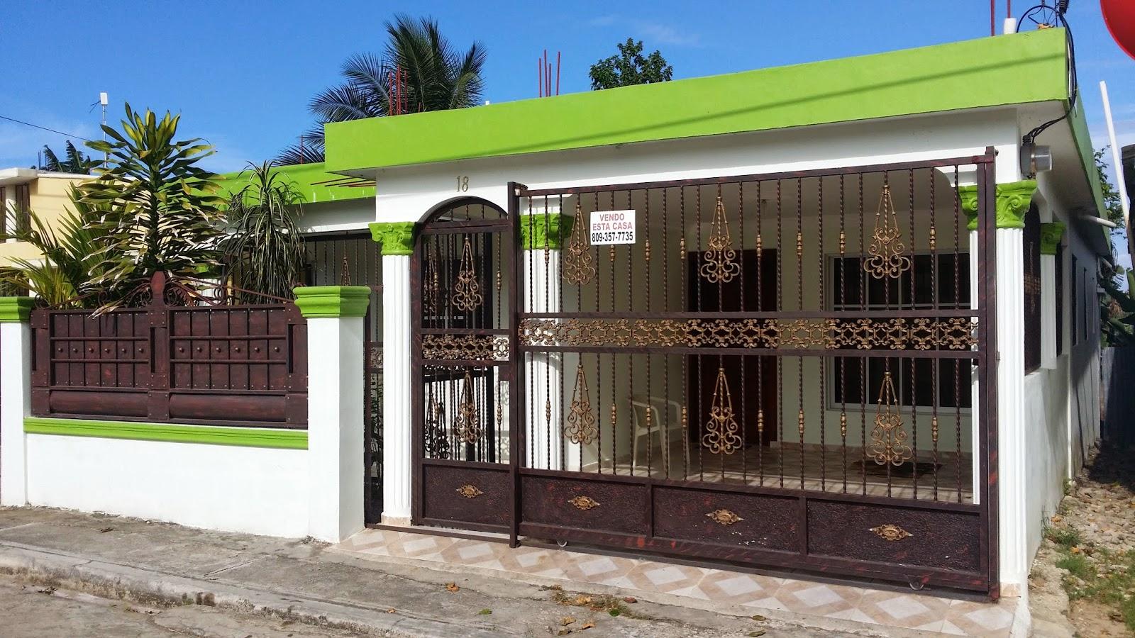 Www ficasas com adquiera esta bonita casa en nagua for Marquesinas para puertas de entrada