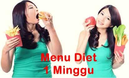 Menu Diet Sehat Menurunkan Berat Badan Dalam Seminggu Diet Sehat