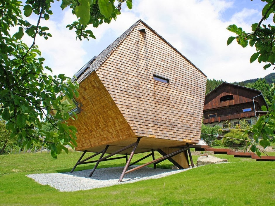 gambar desain rumah panggung kayu model minimalis
