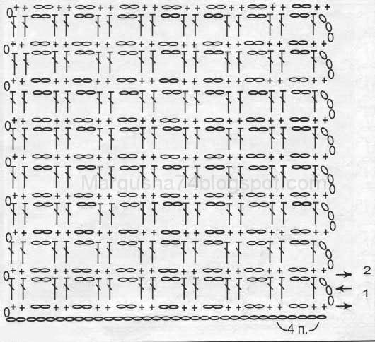 приемы филейного вязания.