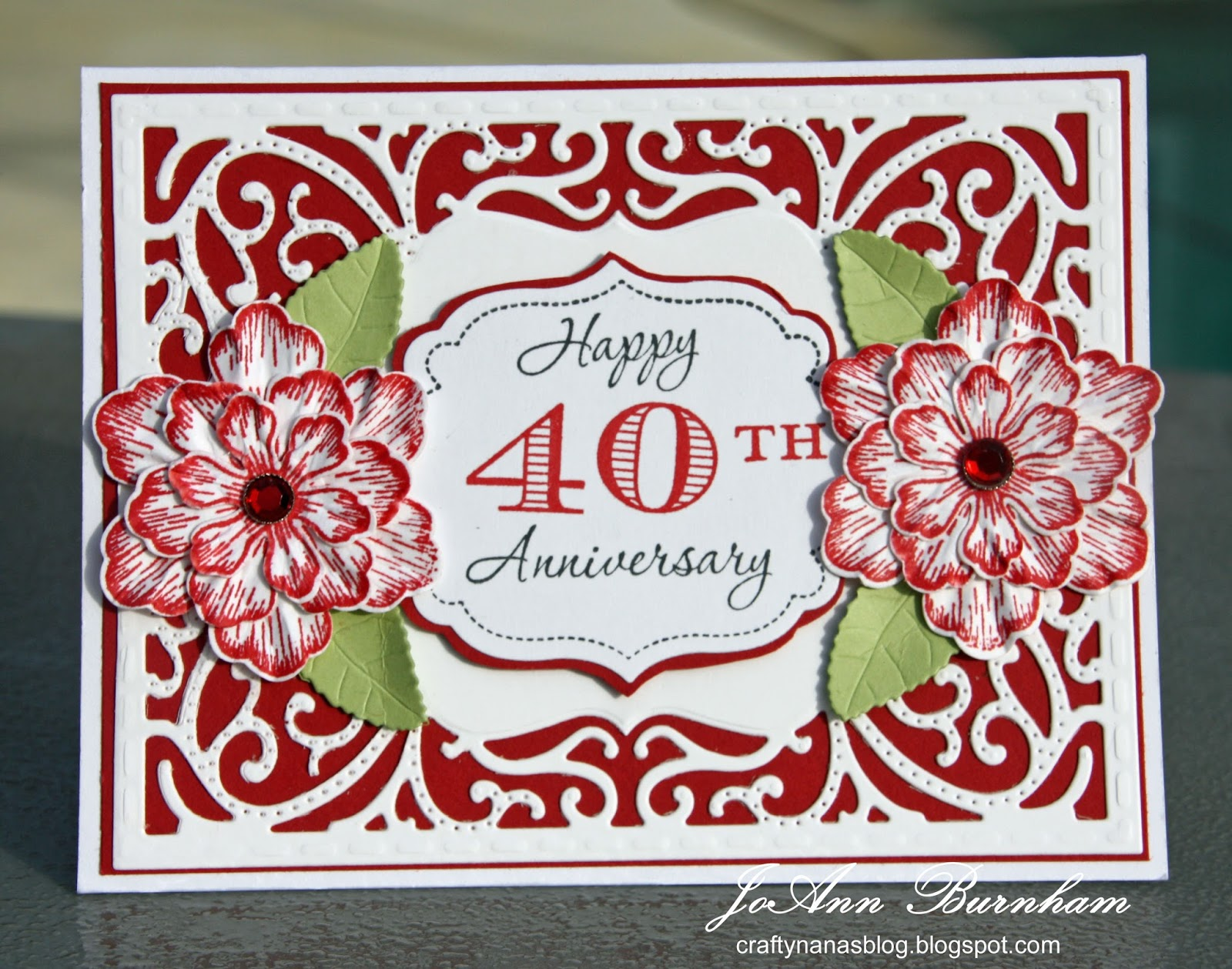 40th anniversary cards wife