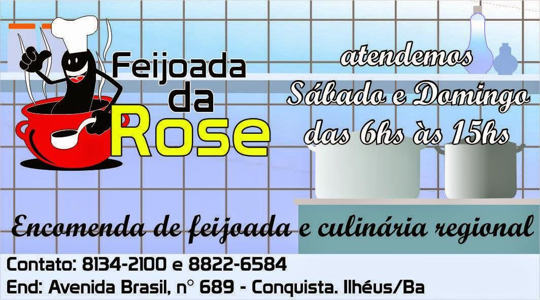 FEIJOADA  DA ROSE ATENDEMOS AOS SABADOS E DOMINGOS DAS 6H ÁS 15H ENCOMENDA DE FEIJOADA E CULINÁRIA