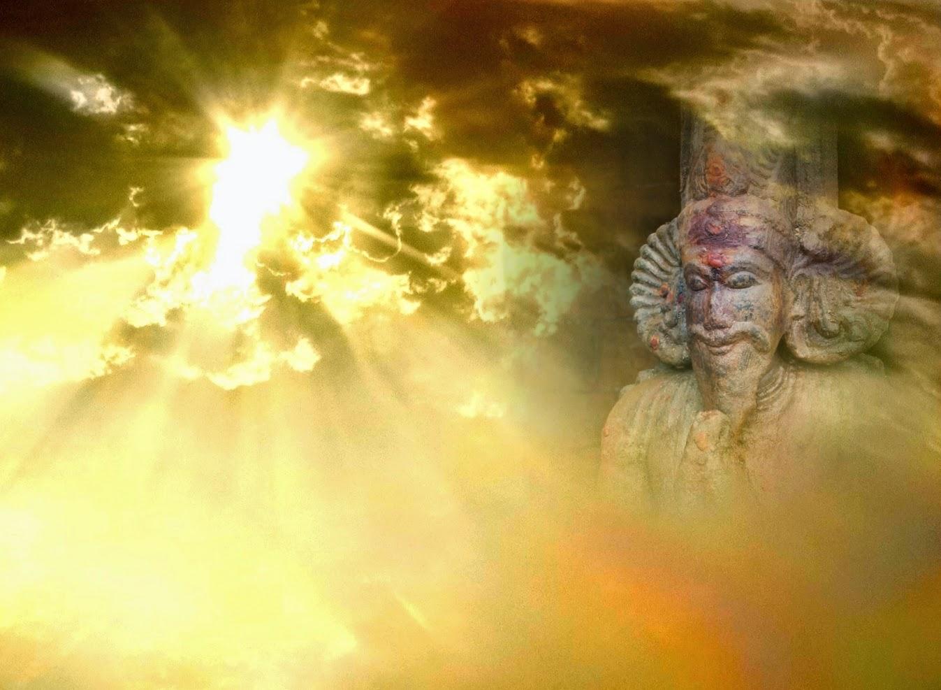 sun, meditation