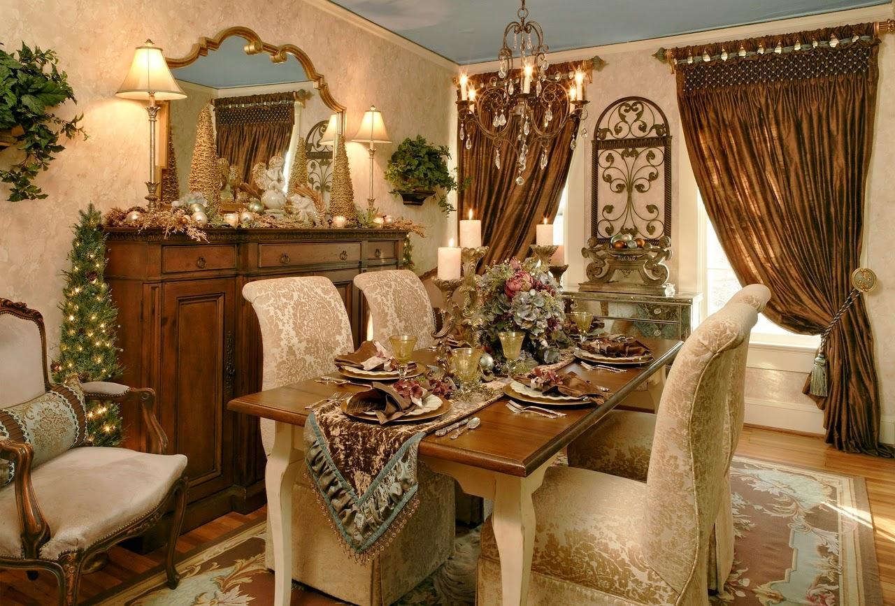 Comedores decorados por navidad salas con estilo - Comedores con chimenea ...