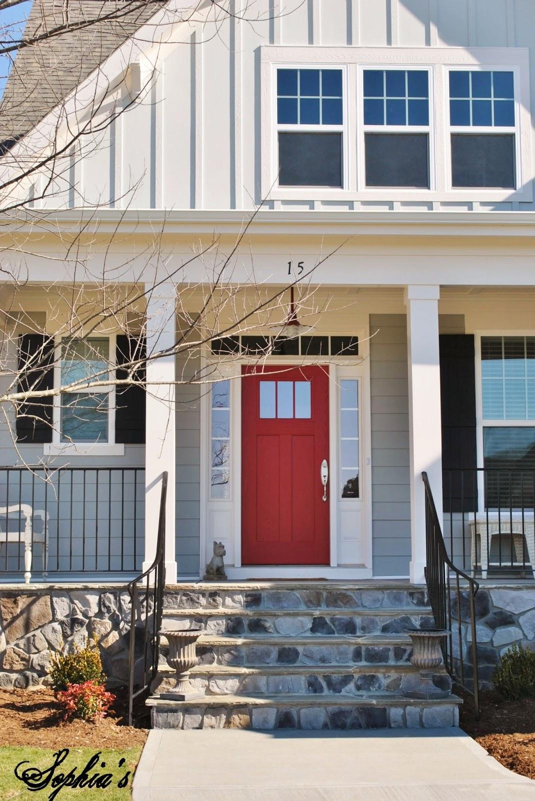 Primitive exterior colors joy studio design gallery - Front door colors for grey house ...